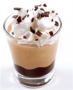 Crema caffè calda con panna