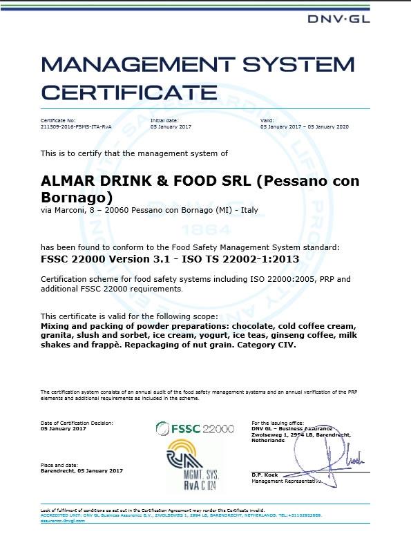 News - FSSC 22000 – Food safety certification