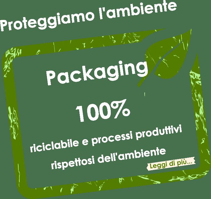 Proteggiamo l'ambiente con un packaging 100% riciclabile